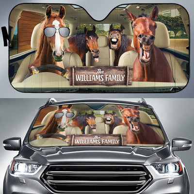 Personalized Driving Horses Right Hand Drive Auto Sun Shade