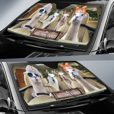 Personalized Driving Llamas Right Hand Drive Auto Sun Shade