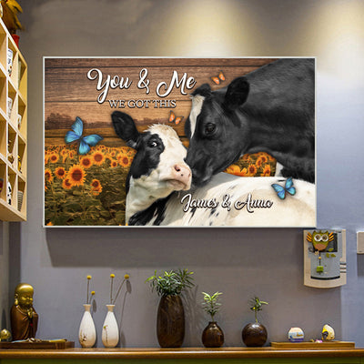 Personalized You And Me Landscape Canvas .75in Frame