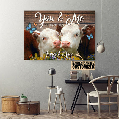 Personalized You And Me 3 Landscape Canvas .75in Frame