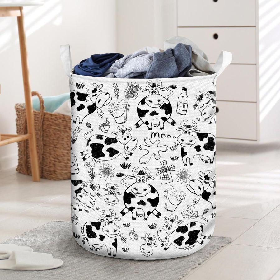 Position Of Dairy Cows Laundry Basket