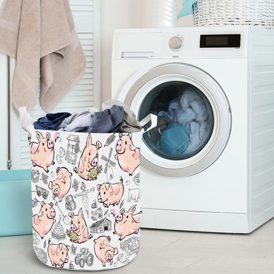 Position Of Pigs Laundry Basket
