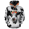 Red Flowers Dairy Cows All-over Hoodie And Leggings Set