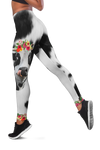 Red Flowers Dairy Cow Legging