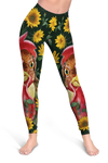 Sunflower Chicken Cropped Hoodie And Leggings Set