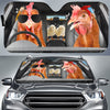 The Funny Couple Chickens Right Hand Drive Auto Sun Shade