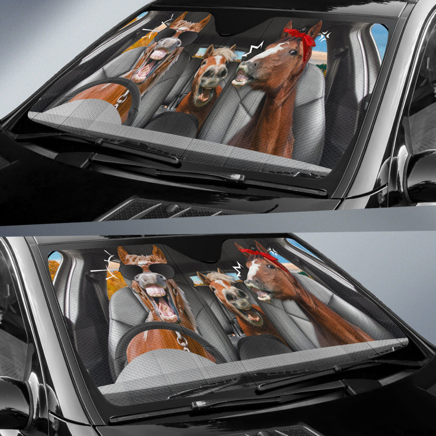The Funny Couple Horses Right Hand Drive Auto Sun Shade