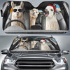 The Funny Llamas Couple Right Hand Drive Auto Sun Shade