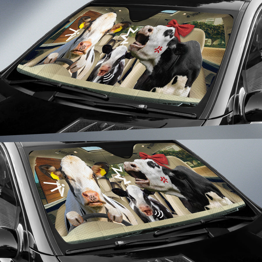 The Funny Couple Cows 2 Right Hand Drive Auto Sun Shade