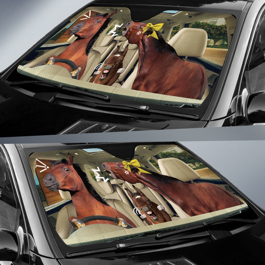 The Funny Couple Horses 2 Right Hand Drive Auto Sun Shade