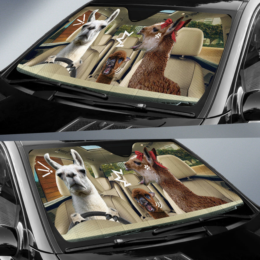 The Funny Couple Llamas 2 Right Hand Drive Auto Sun Shade