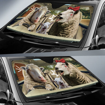The Funny Couple Sheep Right Hand Drive Auto Sun Shade