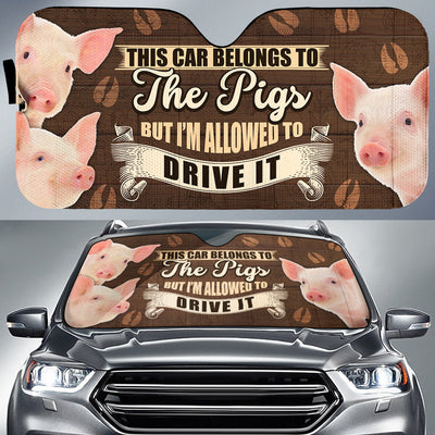 This Car Belongs To The Pig, But I'm Allowed To Drive It Auto Sun Shade