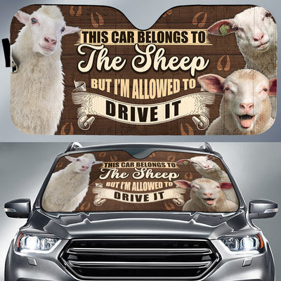 This Car Belongs To The Sheep, But I'm Allowed To Drive It Auto Sun Shade