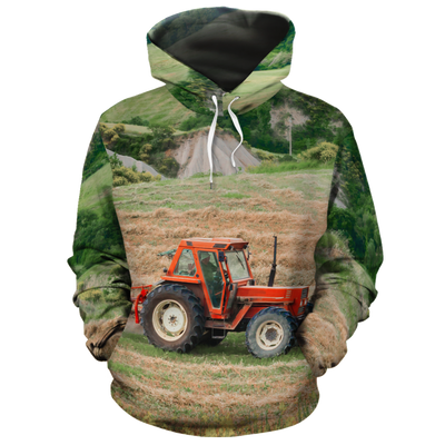 Tractor On The Field 1 All-over Hoodie