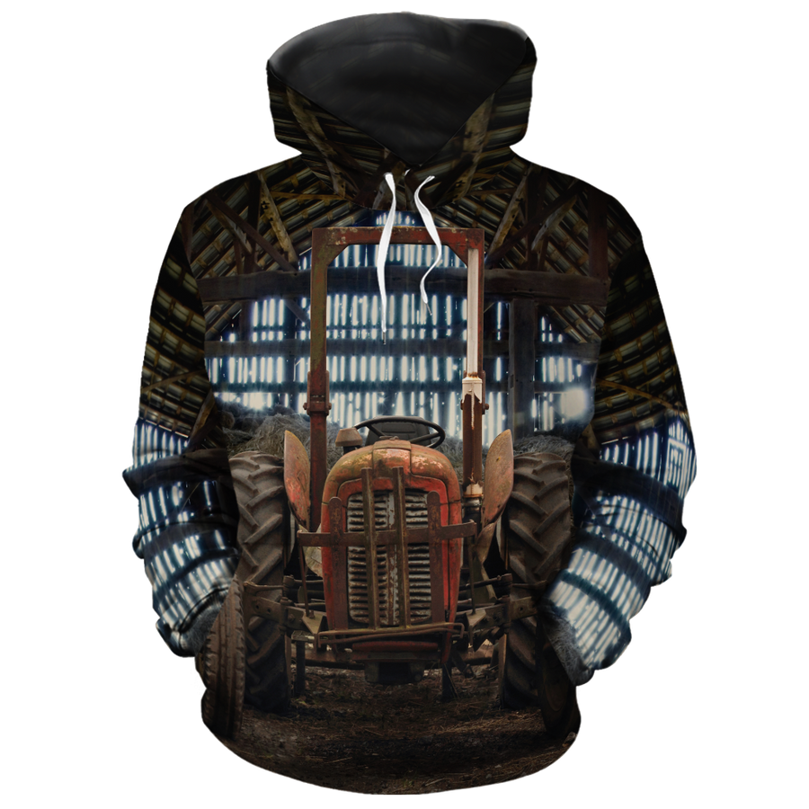 Tractor On The Field 2 All-over Hoodie