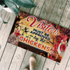 Visitors Must Be Approved By The Chickens Halloween Doormat