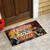 Visitors Must Be Approved By The Cows Halloween Doormat