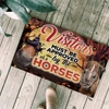 Visitors Must Be Approved By The Horses Halloween Doormat