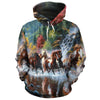 Wild Horse All-over Hoodie