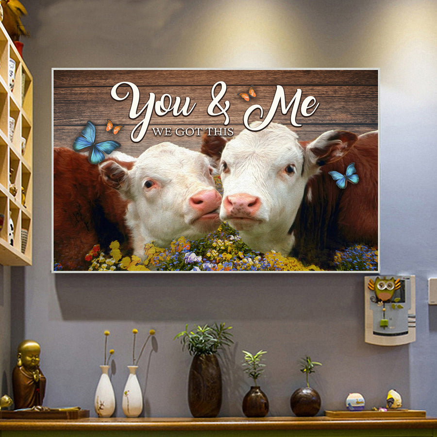 You and Me 3 Landscape Canvas