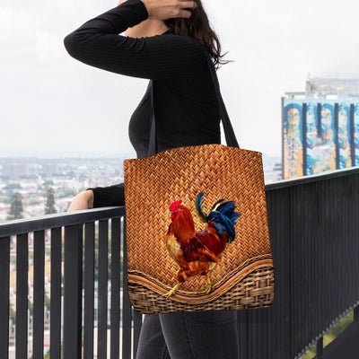 Chicken Rattan Pattern Tote Bag
