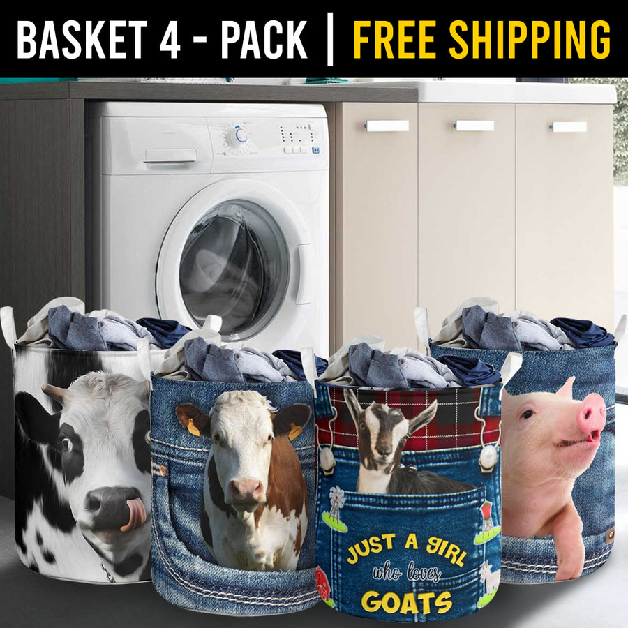 Farm Animals Laundry Basket Combo 1 Pack-4
