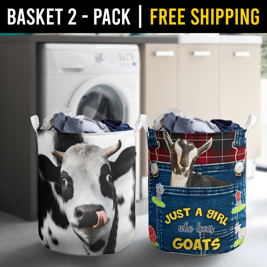 Farm Animals Laundry Basket Combo 2 Pack-2