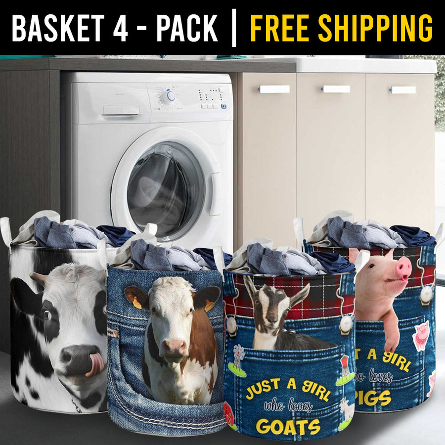 Farm Animals Laundry Basket Combo 2 Pack-4