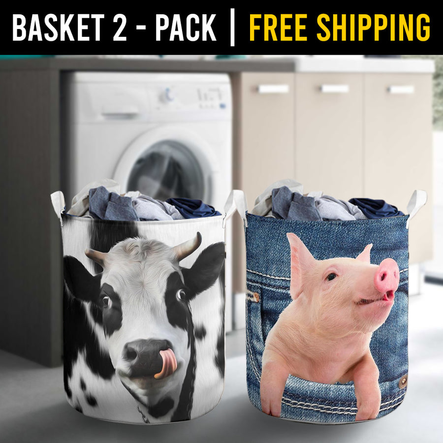 Farm Animals Laundry Basket Combo 3 Pack-2