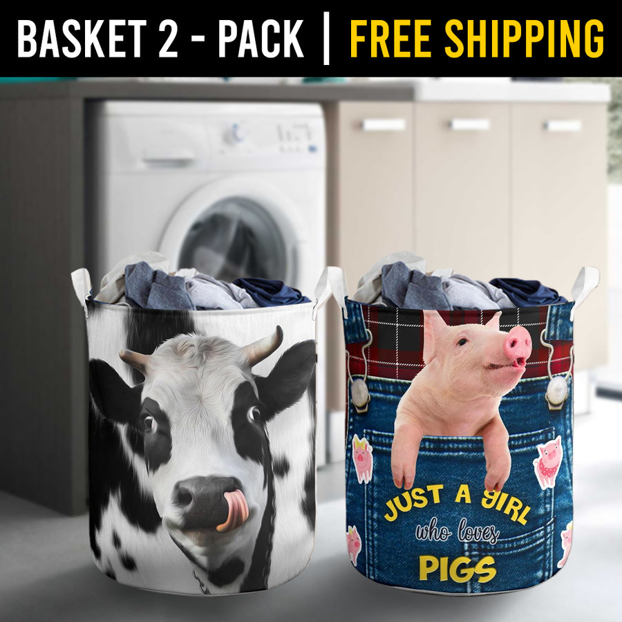 Farm Animals Laundry Basket Combo 4 Pack-2