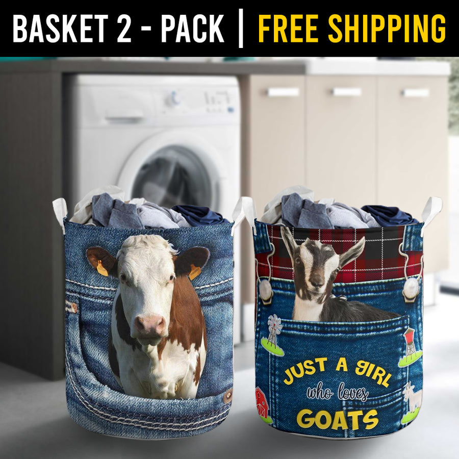 Farm Animals Laundry Basket Combo 5 Pack-2
