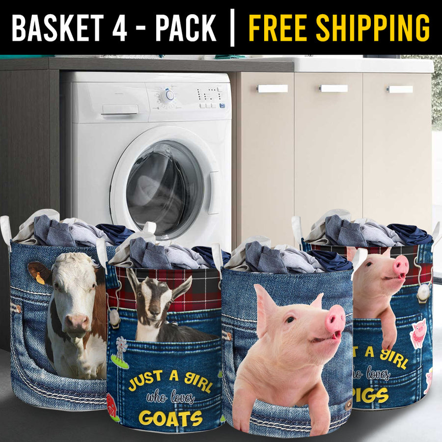 Farm Animals Laundry Basket Combo 5 Pack-4