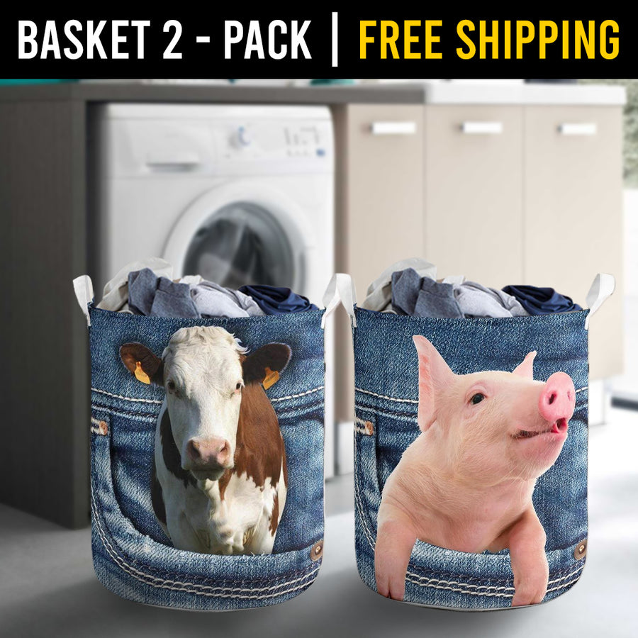 Farm Animals Laundry Basket Combo 6 Pack-2