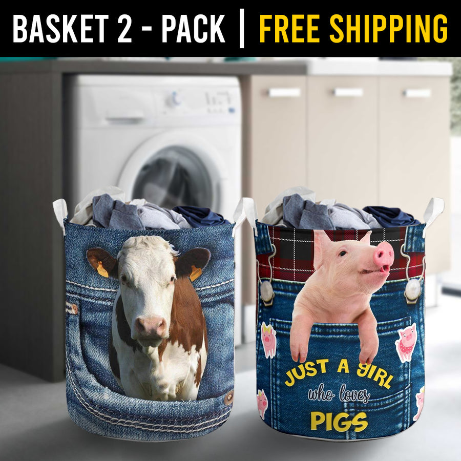 Farm Animals Laundry Basket Combo 7 Pack-2