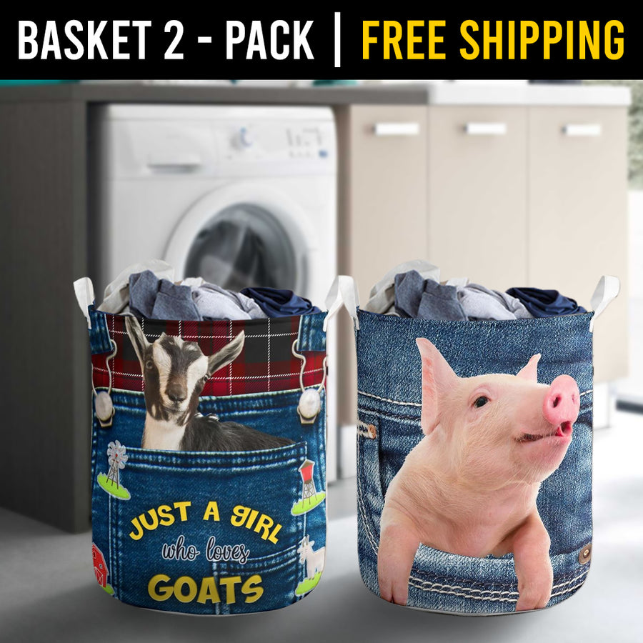 Farm Animals Laundry Basket Combo 8 Pack-2