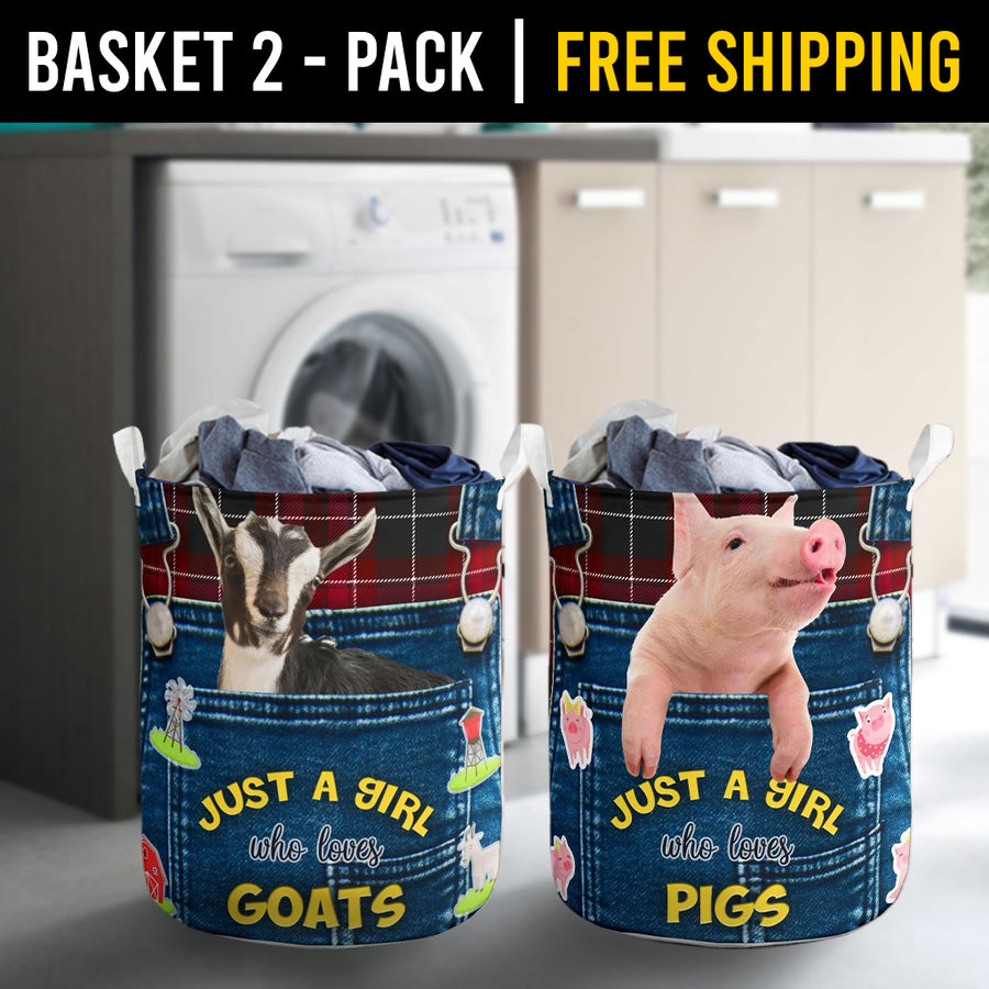 Farm Animals Laundry Basket Combo 9 Pack-2