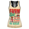 Farm Girl Knows More Than She Says Hollow Tank Top