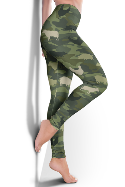 Farming Animals Camo Leggings