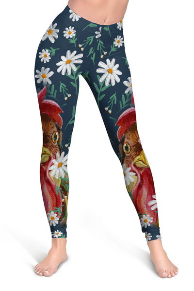 Flower Chicken Cropped Hoodie And Leggings Set