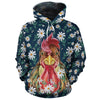 Flower Chicken All-over Hoodie