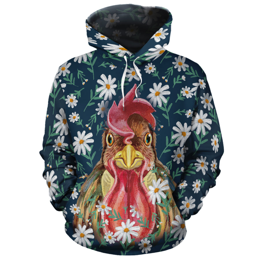 Flower Chicken All-over Hoodie And Leggings Set