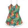 Funny Chickens Tropical Women Rompers