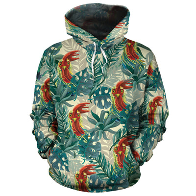 Funny Chicken Tropical 3 All-over Hoodie