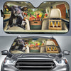Funny Dairy Cow Drinks Beer Right Hand Drive Auto Sun Shade