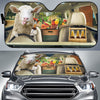 Funny Sheep Drinks Beer Right Hand Drive Auto Sun Shade
