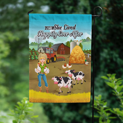 And She Lived Happily Ever After Garden Flag