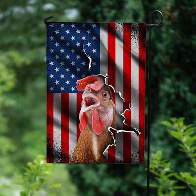 American Chicken Garden Flag