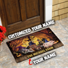 Personalized - The Big Farm Animals Family Halloween Doormat