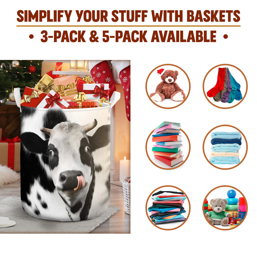 Cute Face Dairy Cow Gift Basket